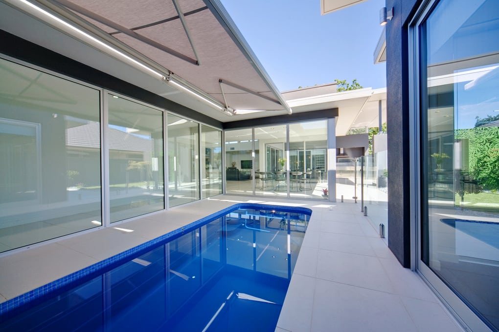 Chamberlaine Close - Pool & External Glazing