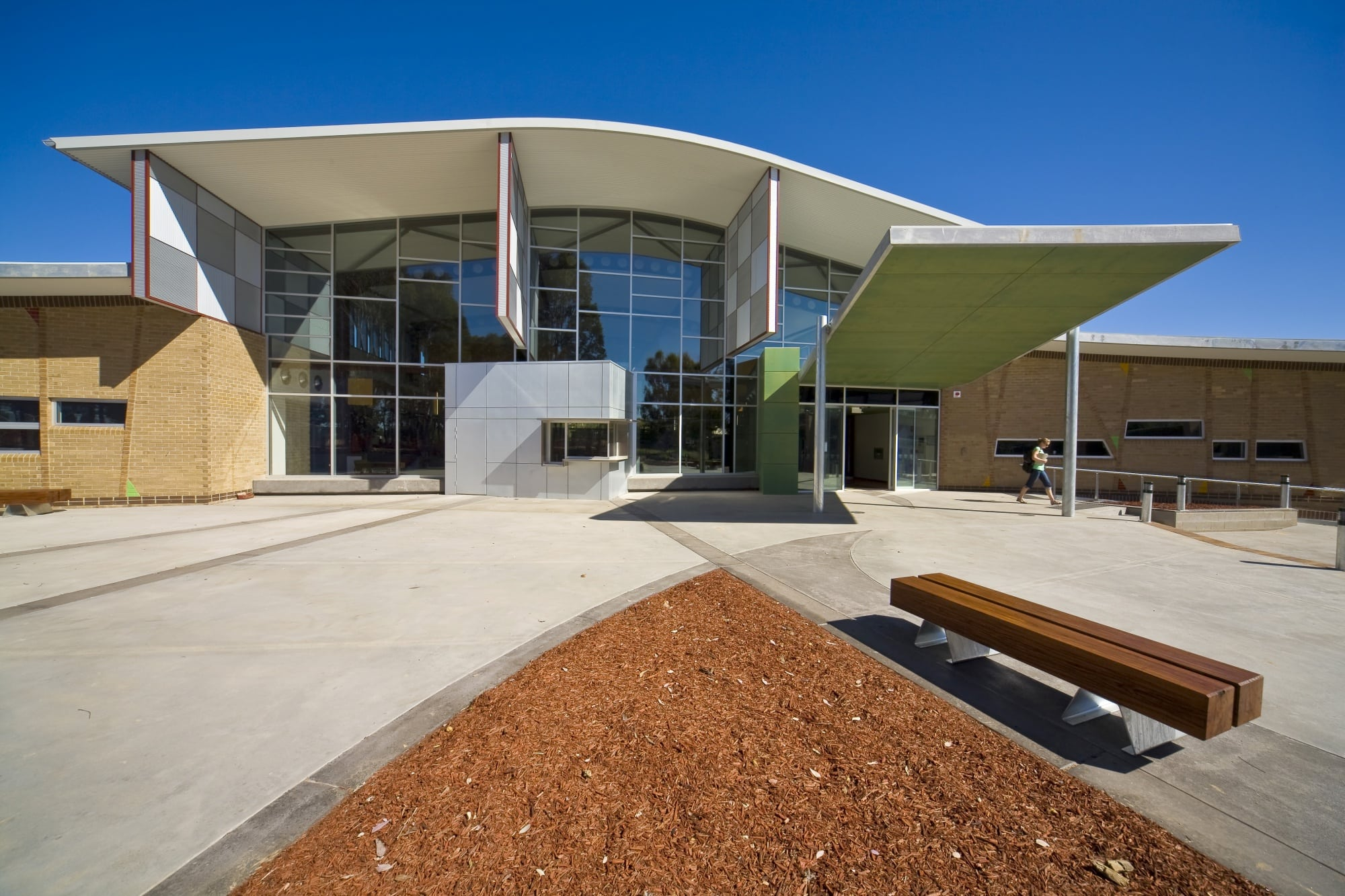 Charles Sturt University - Thurgoona Campus 'Learning Commons Building' - Front Facade