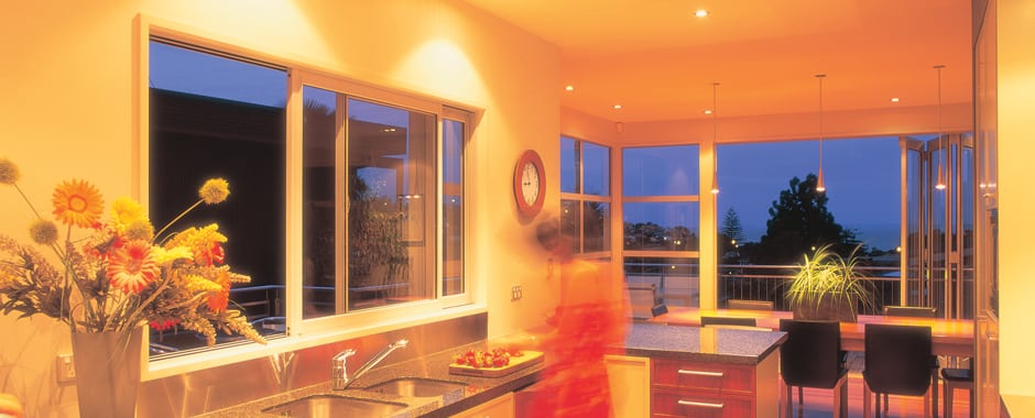 A Sliding Window in a Kitchen