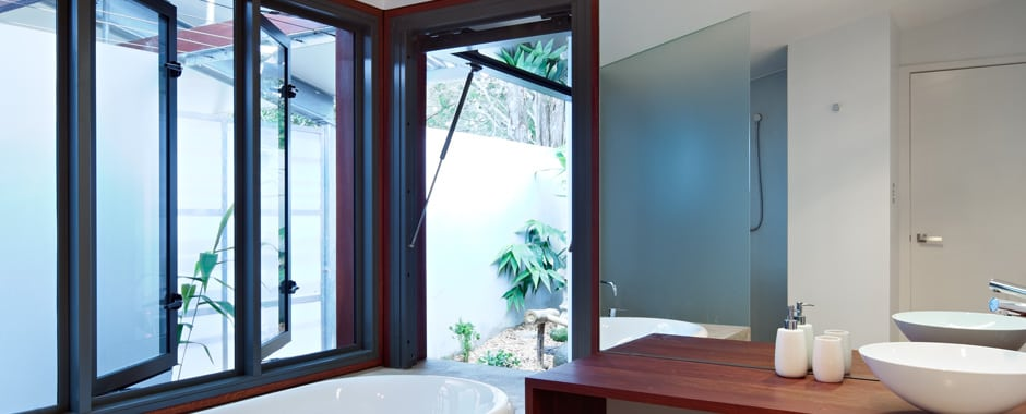 A Casement Window in a Bathroom