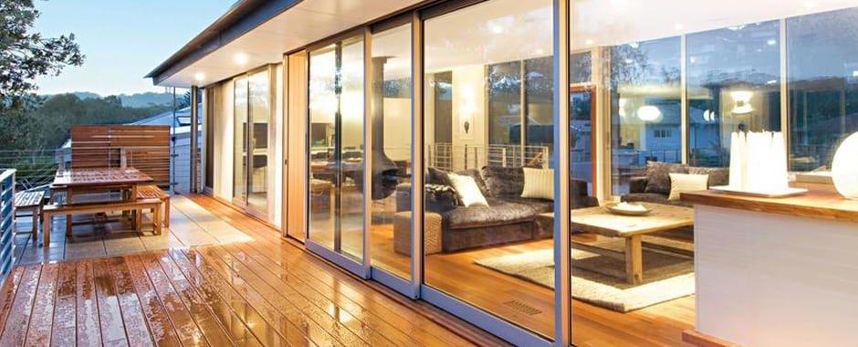 A Sliding Door opening out onto a deck